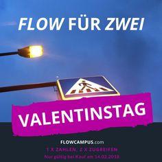 FLOW für ZWEI zum VALENTINSTAG Zu zweit ist alles leichter und macht viel mehr Freude! Ein guter Grund, am Valentinstag bei FLOW für ZWEI mitzumachen! Wie das funktioniert? Ihr könnt heute am Valentinstag auf dem FLOWCAMPUS zwei Produkte zum Preis von einem erhalten: 2 für 1. Ideal für alle, die sich gemeinsam mit der Freundin oder dem Kollegen im Flow professionalisieren möchten. #valentinstag #valentinesday Workspaces, Movie Posters, Movies, Numbers, Velentine Day, Products, Films, Film, Movie