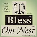 STENCIL Bless Our Nest Easy Prim Will...