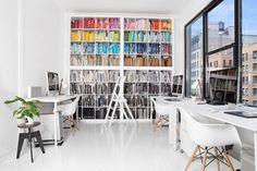 Color coordinated books. Sagmeister Studio