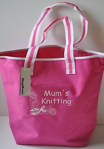 Large Personalised Knitting/Craft Bag Storage for Wool Needles Patterns Any Name | eBay