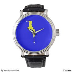 fly blue wrist watches