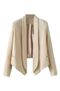 #MYTRENDTWOWARDROBE Asymmetric Open Front Cream Blazer to wear with everything for that finished feminine look