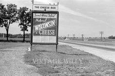 Wisconsin cheese sign cheesy old picture vintage
