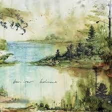"Justin Vernon's releasing a second Bon Iver single. This time it's ""Holocene"" backed by a cover of Bon Iver fan Peter Gabriel's ""Come Talk To Me,"" a song that Art Watercolor, Watercolor Landscape, Landscape Art, Landscape Paintings, Bon Iver, Art And Illustration, Photo D Art, Fine Art, Oeuvre D'art"