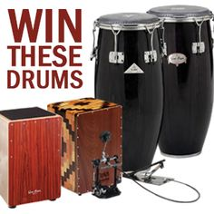 Win Gon Bops drums! We are giving away cajons and congas at our Alex Acuna live event Oct 18th!  Click here for more details and to enter!  #conga #drums #percussion #gonbops