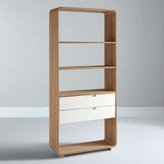 BuyEbbe Gehl for John Lewis Mira 2 Drawer Bookcase, Wide Online at johnlewis.com