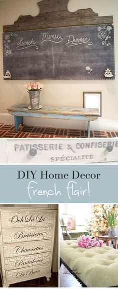 DIY Home Decor •• French Flair! •• Great Ideas & Tutorials.