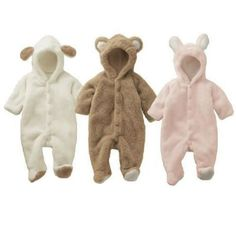 Newborn Infant Baby Boy Girls Romper Hooded Jumpsuit Bodysuit Clothes Outfit NWT