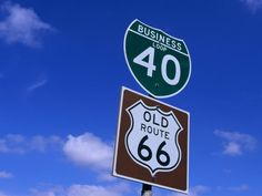 Road Sign on Old Route 66 at Texas-New Mexico Border, USA Stampa ...