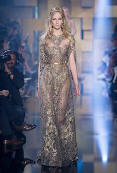 Elie Saab Haute Couture Autumn Winter 2015-16 at Paris Fashion Week #fashion