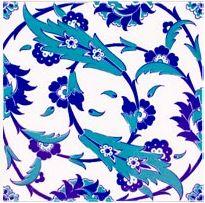 Floral Spin Turkish Tile