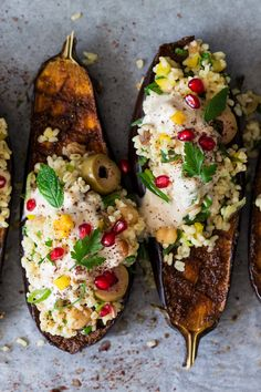 Aubergine with bulgur wheat and tahini - Lazy Cat Kitchen Aubergine with bulgur wheat and tahini is a simple yet delicious dish. It's easy to make and satisfying. Naturally vegan and easily made gluten-free too. Vegetarian Eggplant Recipes, Vegan Recipes, Cooking Recipes, Bulgur Recipes, Tagine Recipes, Vegan Vegetarian, Lazy Cat Kitchen, Onigirazu, Dessert