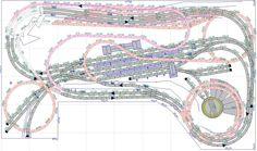 Ho Trains, Model Trains, Kato Unitrack, Model Railway Track Plans, Train Table, Model Train Layouts, Train Tracks, Train Set, Planer