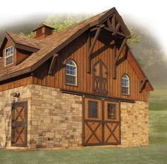 This customized Barn Pros Gable 36 located in Texas has a stunning  interior: Classic Euro Low Rise stall fronts set against rich pine-wrapped walls and ceilings.