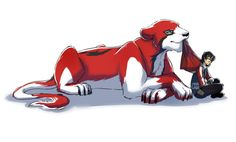Keith and his realistic Red Lion from Voltron Legendary Defender