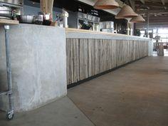 Afbeeldingsresultaat voor houten of betonnen bar