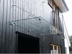 Modern Rod Glass Door Canopy 1440 x 800