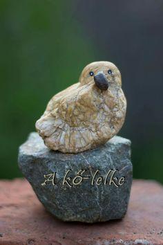 Kőcsibe #akőlelke #kavicsképek #papptimi #pt #pebbleart #pebbleartist #stoneart