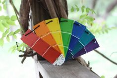 Paint chip rainbow fan