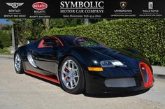 Bugatti San Diego is proud to offer this pre-enjoyed 2012 Bugatti Veyron Grandsport painted black with red accents. This vehicle features chrome multi-spoke wheels, mesh grilles, glass removable top, red calipers, red side skirt, red pin stripe, matte red engine covers, red underpainted wing, two tone interior in red with black inserts, carbon fiber interior and much more. This car has just been serviced from the factory with BRAND NEW tires and comes with a one year warranty. To find out…
