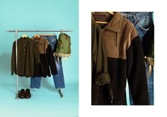 Retrock - Retrock - cutting edge fashion from Budapest based vintage & designer shop Gucci Jeans, Green Backpacks, Look Man, Budapest, Wardrobe Rack, Vintage Designs, Grass, Vintage Outfits, Unique