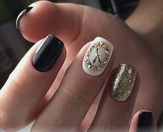 Bright Colors For New Year Nails 2019 Clock Design Holiday Nails