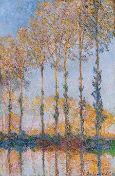 Les Peupliers, effet blanc et jaune (C Monet - W 1298) | par photopoésie, 1891.