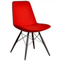 AEON Furniture Paris-5 Dining Chair ($402) ❤ liked on Polyvore featuring home, furniture, chairs, dining chairs, modern chairs, modern kitchen chairs, modern red dining chairs, modern home furniture and paris chair