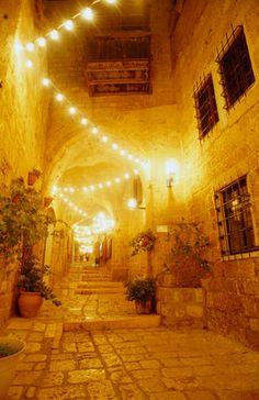 The wonderful old port city of Jaffa in Tel Aviv illuminated at night isreal