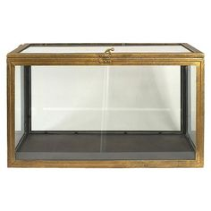 Metal and Glass Curio Box - Gold : Target