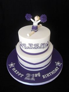 21st Birthday Cheerleader Cake | Flickr - Photo Sharing!