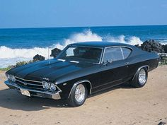 What's not to love about this?  Ocean and a Chevelle. Awesome