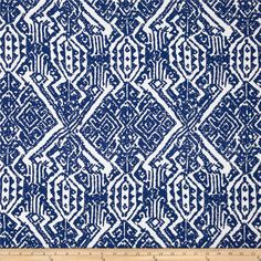 Designer Rayon Culture Print White/Blue from @fabricdotcom  This rayon fabric has a beautiful fluid drape and an ultra soft luxurious hand. It is perfect for creating shirts, blouses, gathered skirts and flowing dresses with a lining.