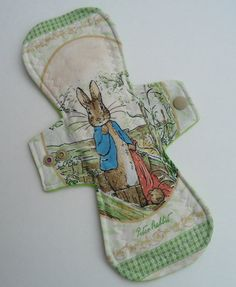 WHAT?! Who killed Peter Cotton Tail? Mom did! 10 inch Moderate Cloth Menstrual Pad  Mama by countyclothcreations, $8.50.