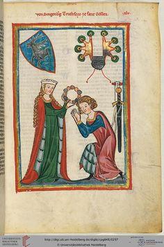 Cod. Pal. germ. 848  Große Heidelberger Liederhandschrift (Codex Manesse)  Zürich, ca. 1300 bis ca. 1340 Folio: 151r