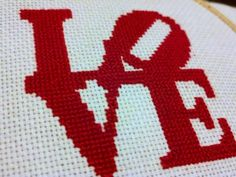 Robert Indiana LOVE Sculpture pattern, designed by @Jennifer Hoel.