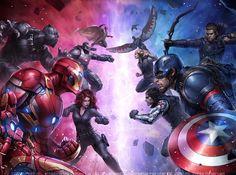 Team IronMan  Team Cap (Art By: JeeHyung Lee)  #Ironman #CaptainAmerica #BlackWidow #WarMachine #Vision #BlackPanther #HawkEye #wintersoldier #Falcon #CivilWar #Comics #avengers #anime #animation #likes #tagsforlikes #instalike #instamood #instafollow #UKnitedcomics by uknitedcomics www.kaboomred.info