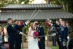 Military wedding ceremony exit/swords