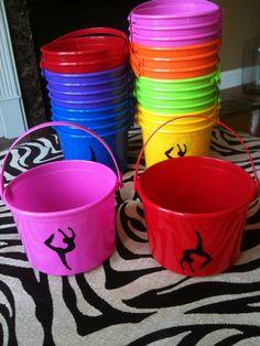 Gymnastics- Children's Party Favor Buckets