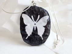 Butterfly Silhouette Sterling Silver Chain
