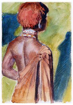 Kikuyu Warrior Akseli Gallen Kallela 1909