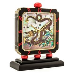 Verger Frères for Charlton & Co. Art Deco Chinoiserie Clock, circa 1925 -1928. Photo courtesy Steven Fox Jewelry