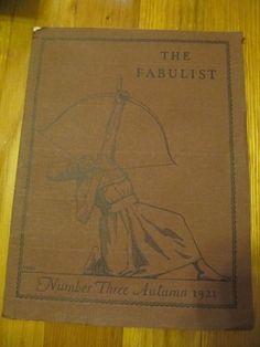 SCARCE THE FABULIST NUMBER 3 AUTUMN 1921 LITERARY PUBLICATION RARE