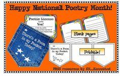 "Freebie Alert! ""Poem in your Pocket Day"" resources."