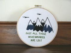 The Hobbit / The Lord of the Rings - Embroidery Hoop available on my etsy!