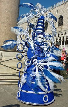 ElaborateCharacter in blue in the Piazza 2011| by Alaskan Dude