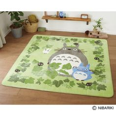 This rug is a good color guide for choosing quilt fabric for a Totoro quilt
