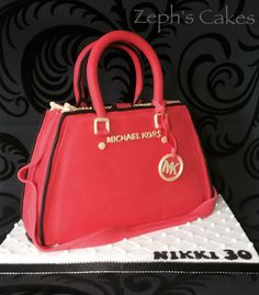 Michael Kors Handbag Cake - all hand cut and all edible :)