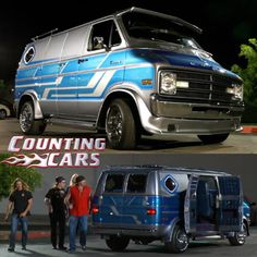 Counting Cars, Tour De Pants and VANtastic episodes. Customised Vans, Custom Vans, Us Cars, Sport Cars, Sport Bikes, Car Tv Shows, Old School Vans, Dodge Van, Counting Cars