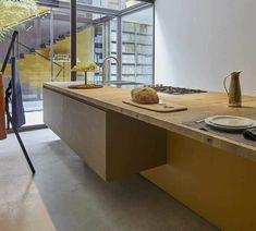 Estivale by Key Cucine Luxury Kitchen Design, Kitchen Island, New Homes, Milano, Home Decor, House Ideas, Twitter, Italia, Island Kitchen